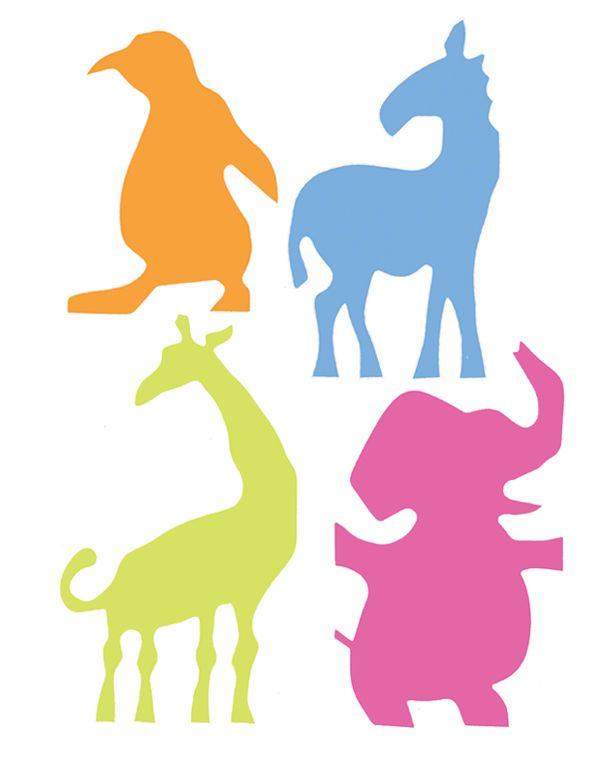 612x765 Noah's Ark Animal Assembly Animal Silhouette, Wood Cutouts