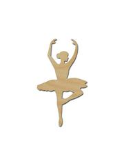 180x240 Ballerina Silhouette Shape Unfinished Wood Cutout Variety Of Sizes