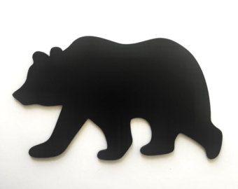 340x270 Bear Silhouette Unfinished Wood Cutout Bear Silhouette, Wood