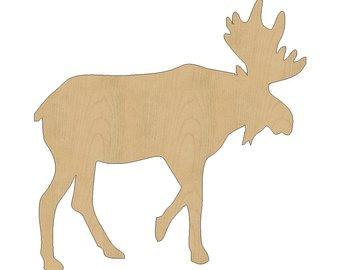 340x270 Moose Cutout Etsy