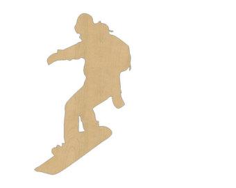 340x270 Snowboarder Cutout Etsy