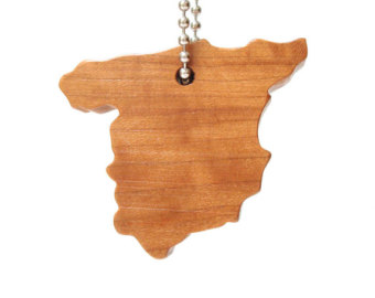 340x270 Wooden Austria Key Chain Country Silhouette Key Fob Country