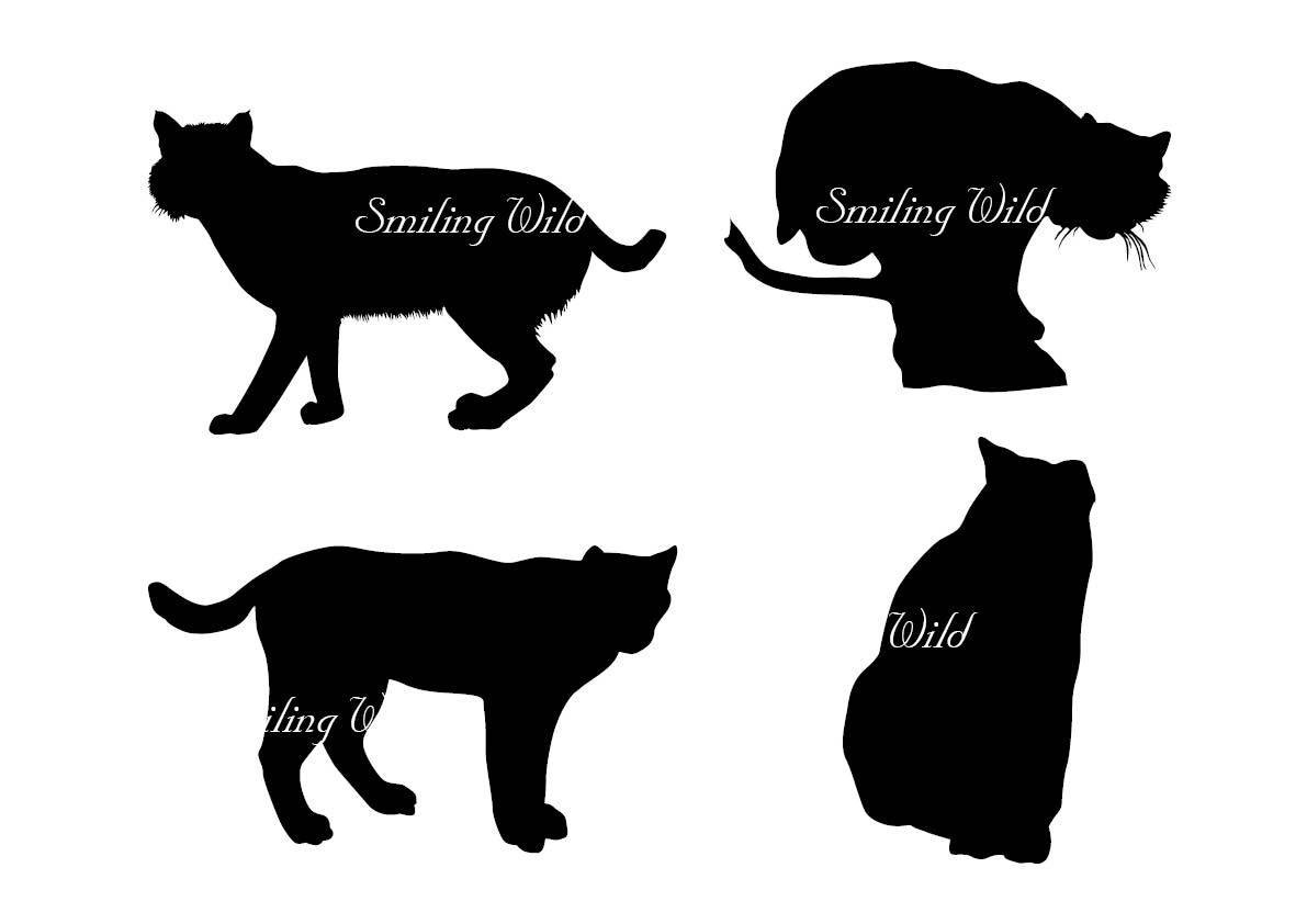 1191x842 Bobcat Lynx Art Svg Silhouette Clipart Wildlife Vector Graphic