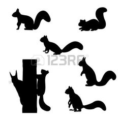 236x236 Silhouettes Of A Variety Of Woodland Animals Woodland Animals