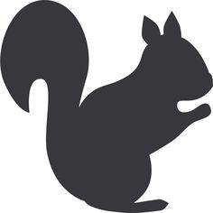 236x236 Simple Squirrel Silhouette Squirrel Silhouette Squirrel Moldes Y