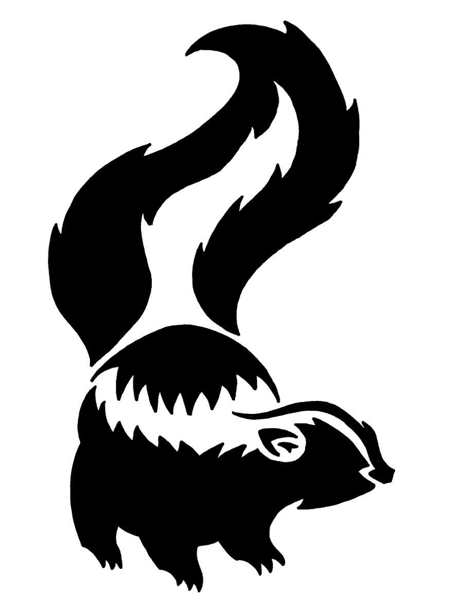 900x1185 Skunk. Woodland Creatures Silhouette, Woodland