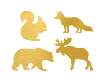 340x270 Gold Foil Animal Etsy