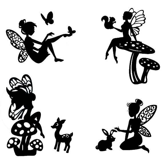 570x570 Woodland Fairy Die Cut Silhouette Fairy Cutouts X 9 Or 12.