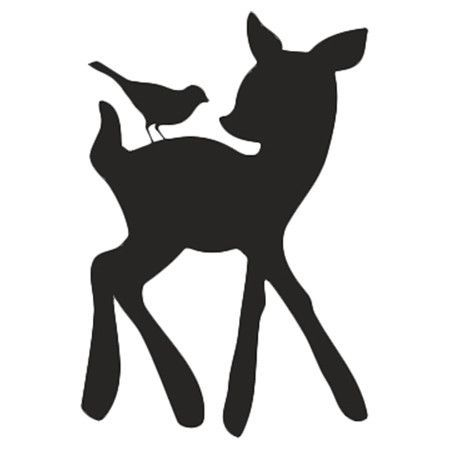 450x450 Woodland Tumble Deer Bird Wall Decal Silhouette, Cricut