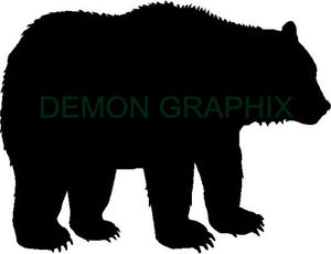 300x230 Grizzly Bear Silhouette Vinyl Decalsticker Hunting Hunter Archery