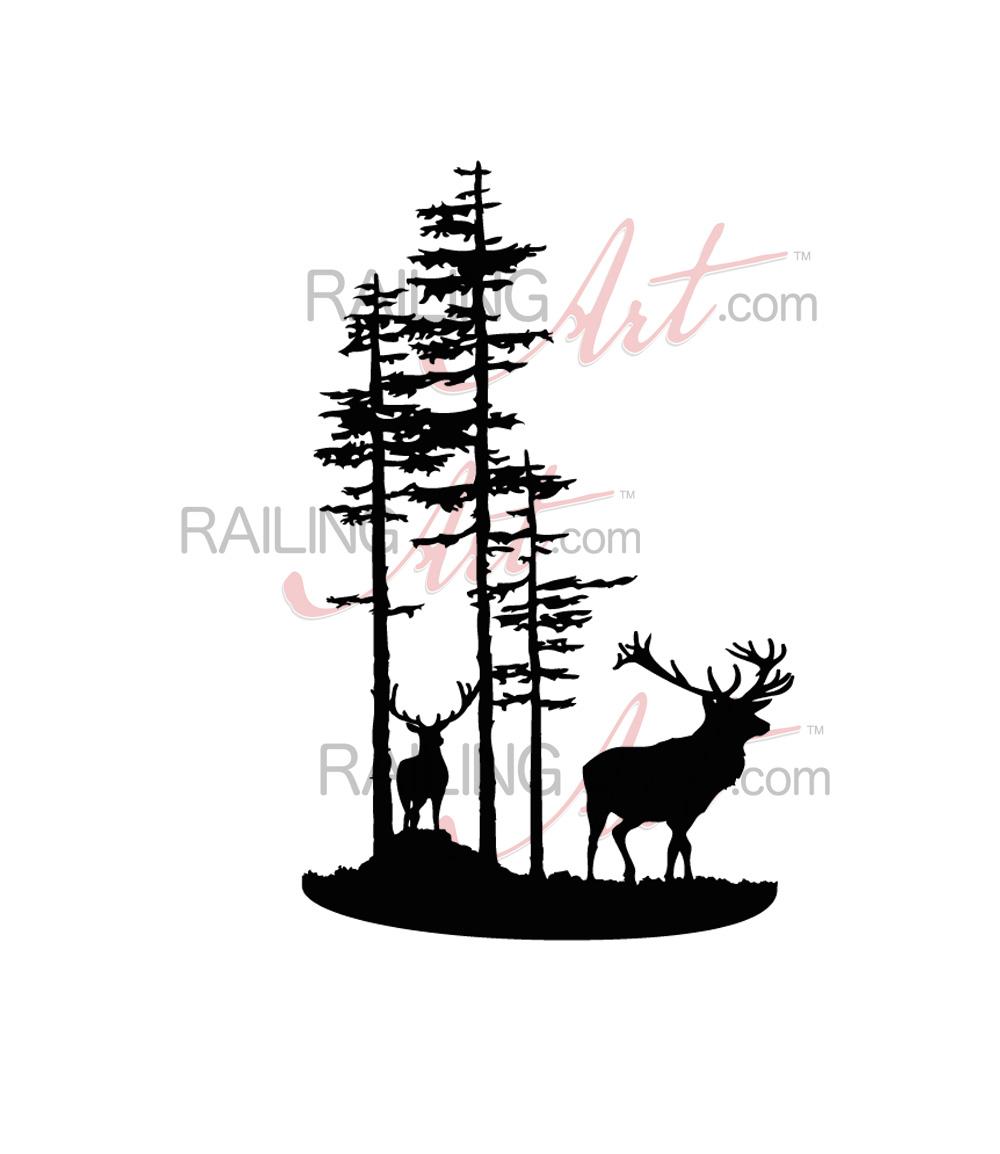 1000x1154 Deer In The Woods
