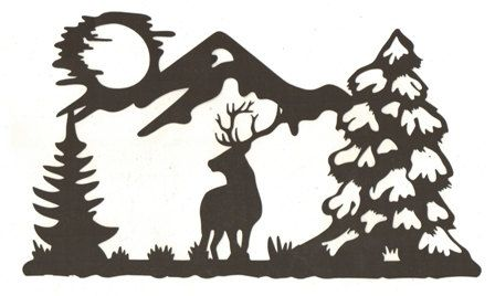 448x268 Deer In The Woods Silhouette By Hilemanhouse On Etsy Cool Stuff
