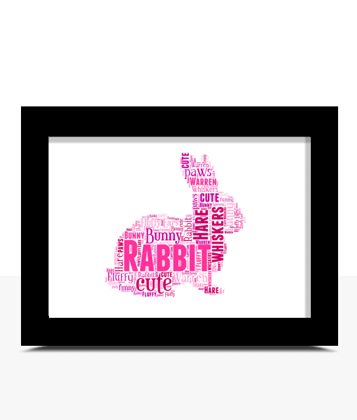 510x600 Rabbit Word Art Print Abc Prints