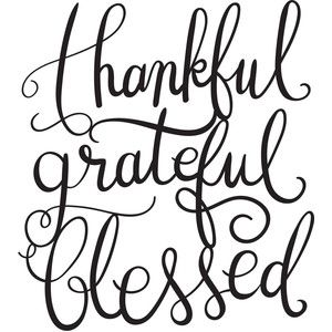 300x300 Thankful Grateful Blessed Silhouette Design, Thankful