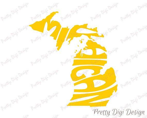 570x456 Digital Michigan Word Art, Michigan Jpg, Png, Eps, Svg, Dxf