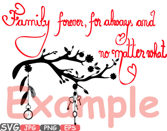 570x447 Family Forever Svg Word Art Family Quote Clip Art Silhouette