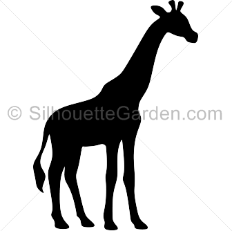 336x334 Giraffe Silhouette Clip Art. Download Free Versions Of The Image