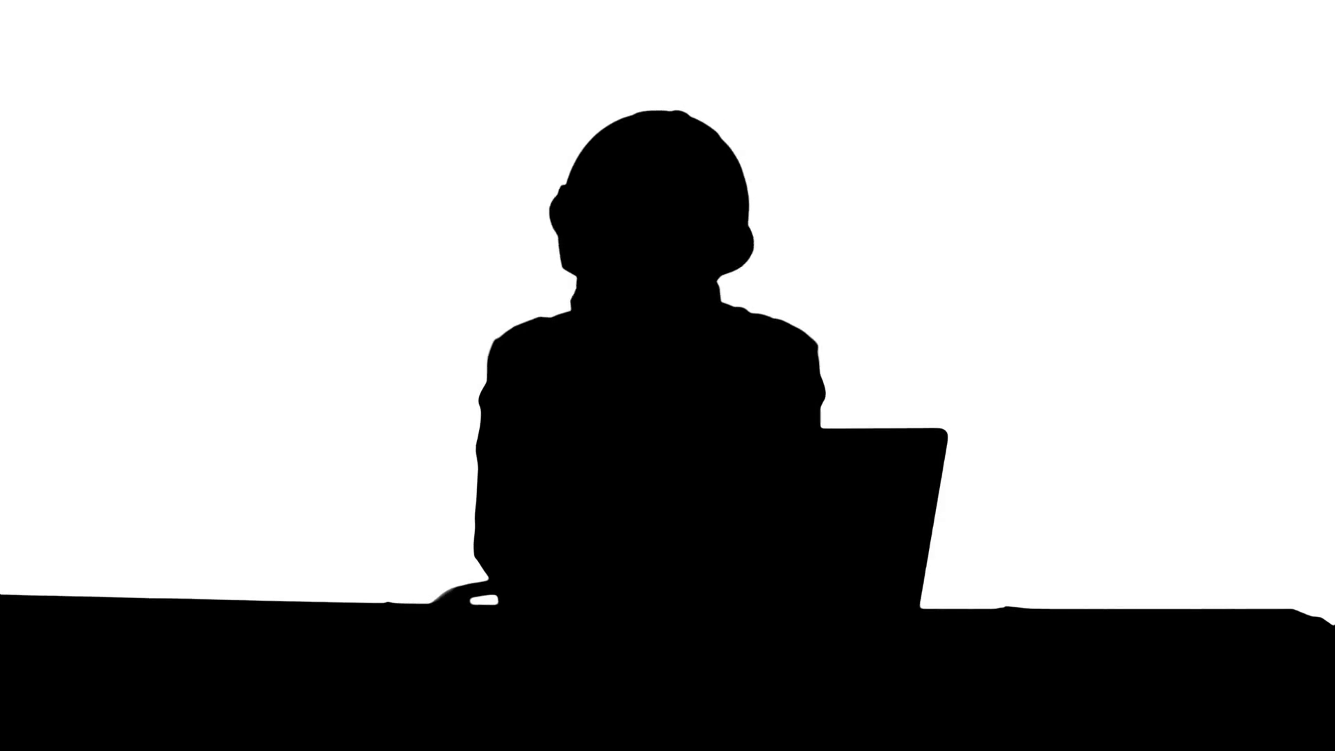 1920x1080 Silhouette Tired Young Woman In Safety Helmet Yawning And Try