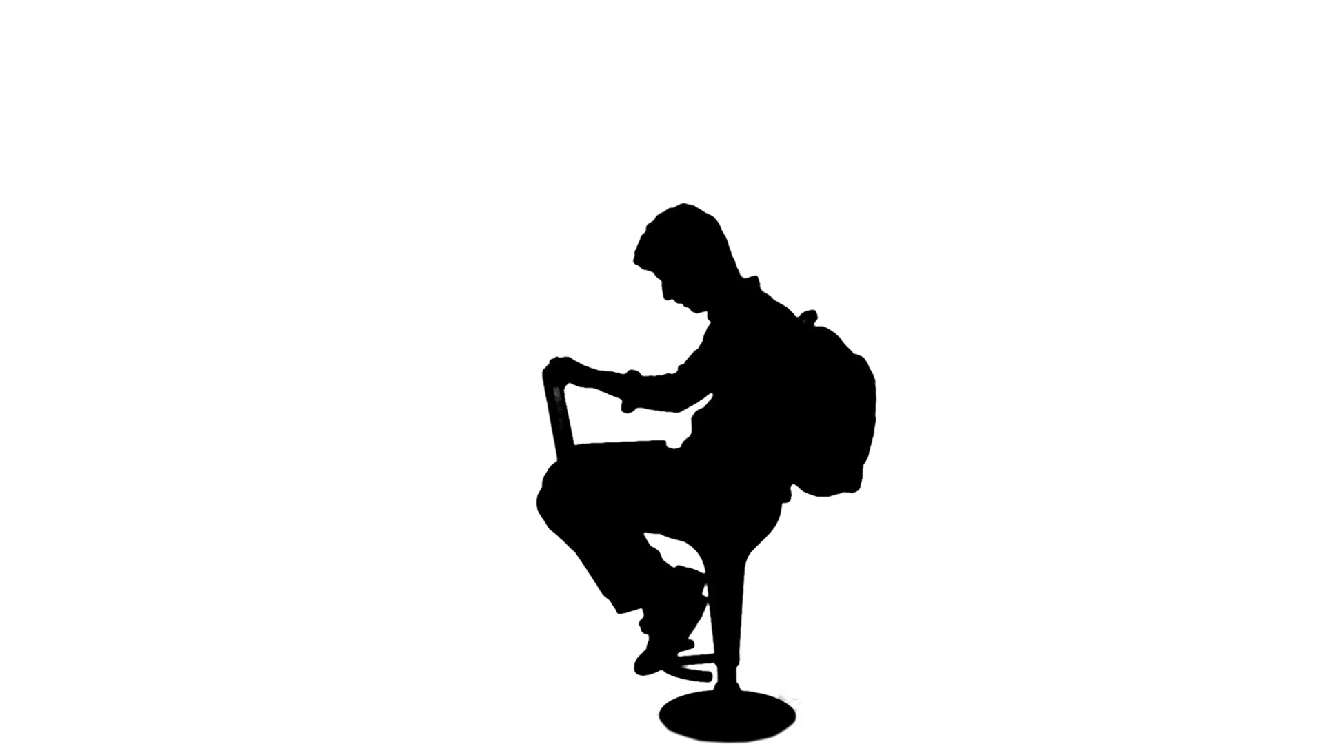 1920x1080 University Student Work Laptop Silhouette