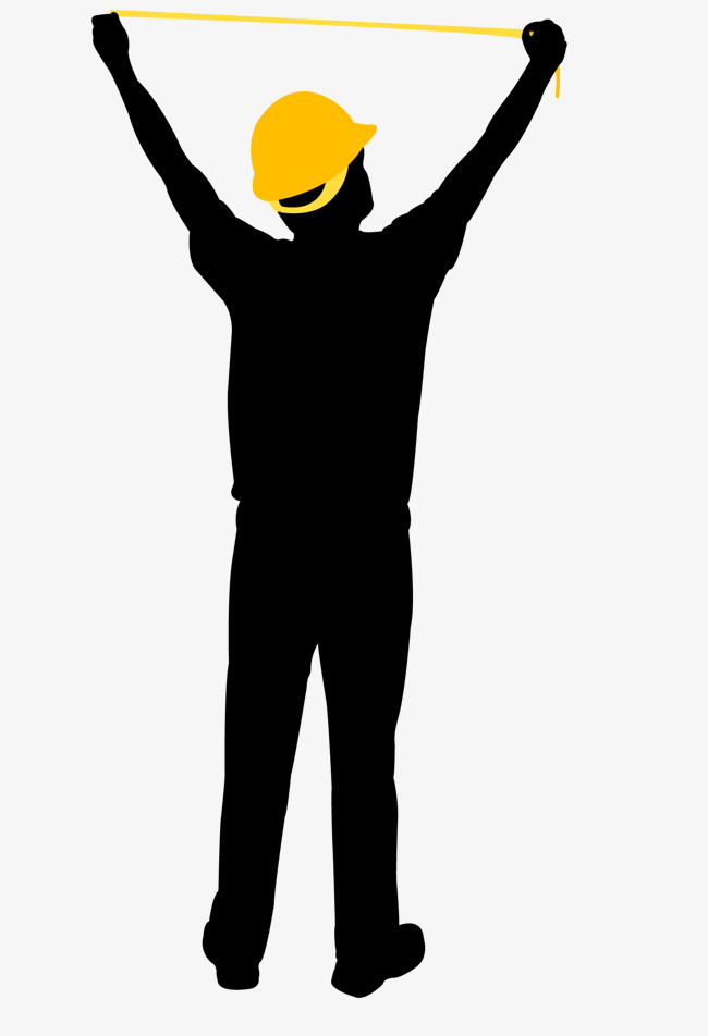 650x952 Measuring Workers Silhouette, Measuring Workers, Decoration Master