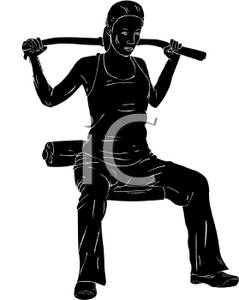 239x300 Silhouette Of A Woman Working Out With Weights