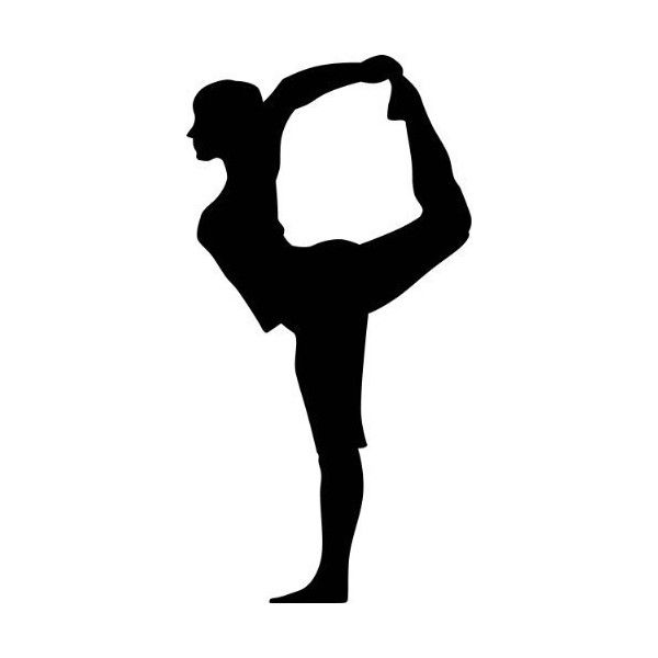 600x600 Yoga Silhouette Wall Decals Yoga Lord Of The Dance Pose Woman