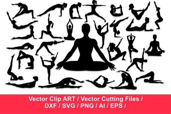 570x380 Yoga Silhouettes Workout Silhouette Exercise Silhouettes