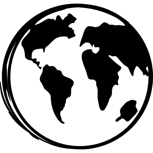 626x626 Earth Globe Sketch Icons Free Download