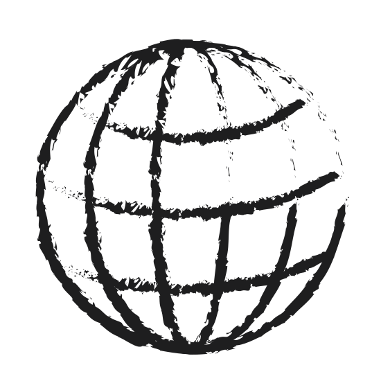 550x550 Monochrome Blurred Silhouette Of World Globe Icon
