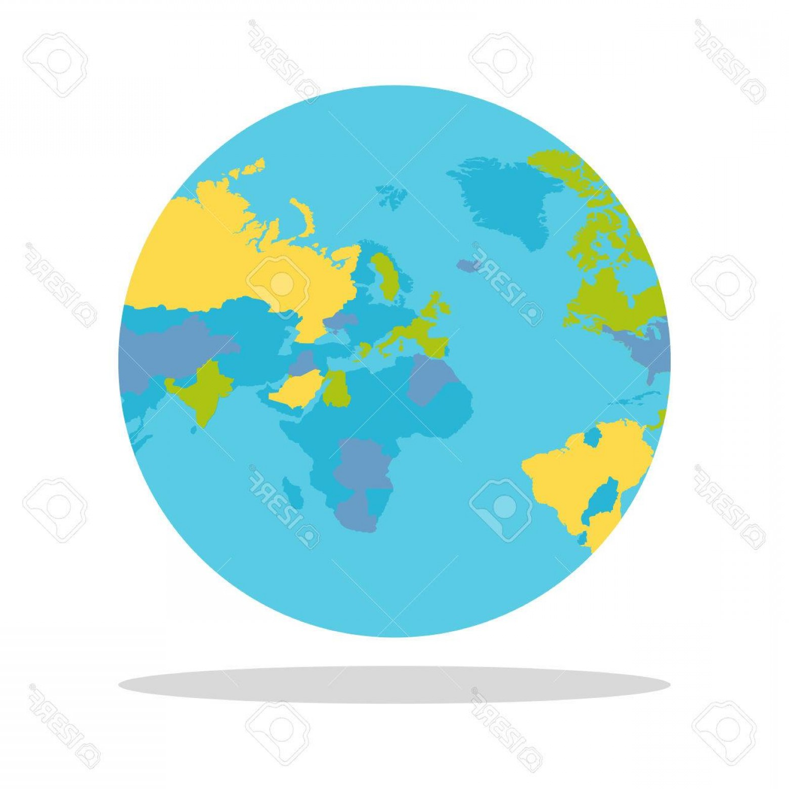 1560x1560 Photostock Vector Planet Earth Vector Illustration World Globe