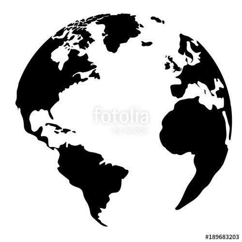 500x500 Silhouette Of A Globe Stock Image And Royalty Free Vector Files