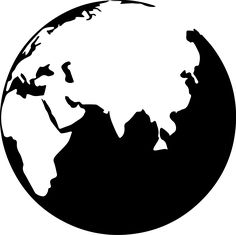 236x235 World Globe B Inspiration Stencil Templates, Globe