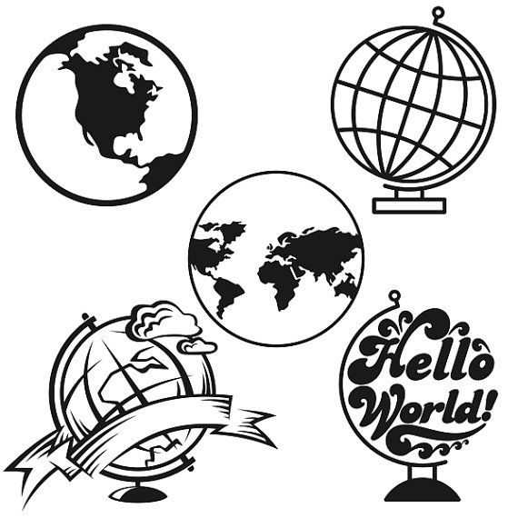 570x570 World Globe Cuttable Designs Svg Dxf Eps Use With By Cuttablesvg