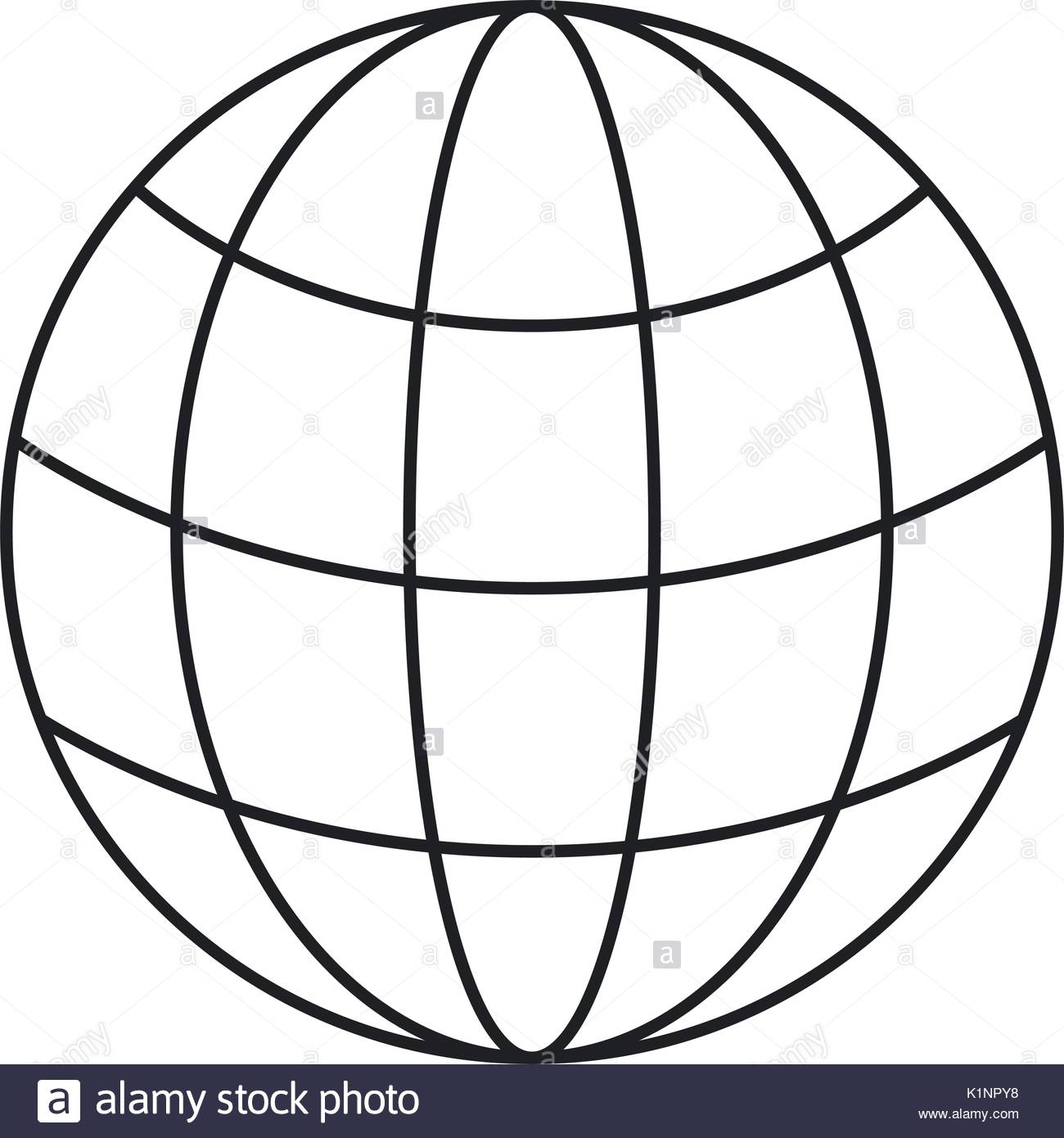 1300x1390 Monochrome Silhouette Of World Globe Icon Stock Vector Art