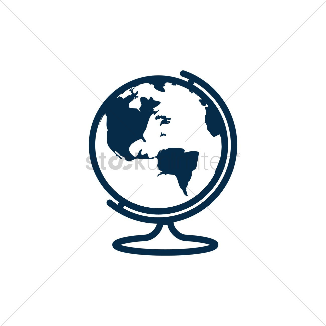 1300x1300 Desk Globe Vector Image