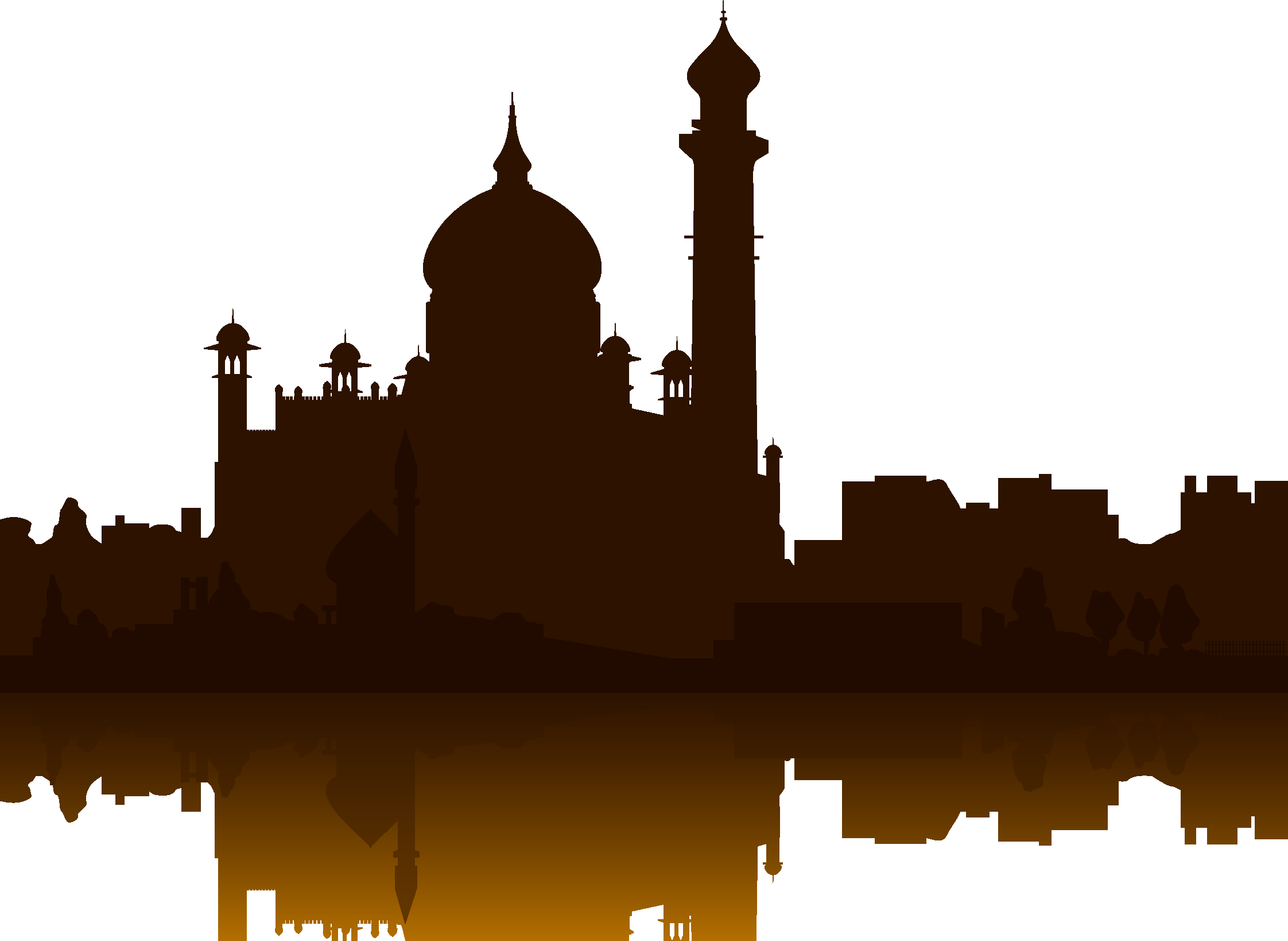2244x1638 Taj Mahal Building Silhouette