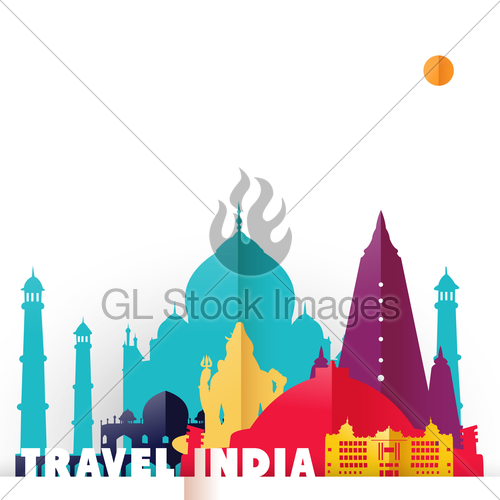 500x500 Travel India Country Paper Cut World Monuments · GL Stock Images