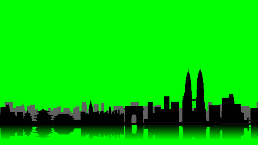 852x480 Animation Of A Skyline With Many Famous International Landmarks