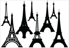 236x165 Eiffel Tower Silhouette, Vector Eiffel Tower Tower