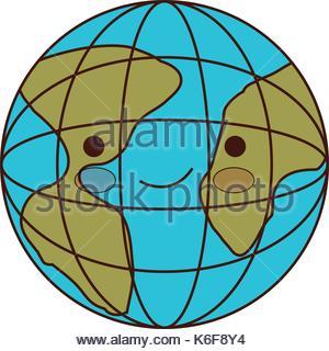 300x320 Cartoon Globe World Map Icon Stock Vector Art Amp Illustration