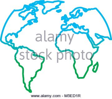360x320 Silhouette World Map Location Planet Stock Vector Art