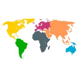 World Map Silhouette Vector