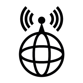 283x283 World Wide Internet Signal Silhouette Silhouette Of World Wide