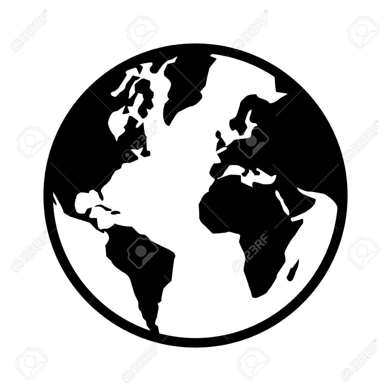 World Silhouette Vector
