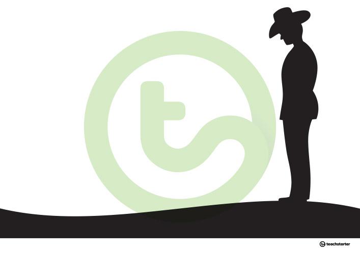 707x500 Anzac Day Silhouette Art Templates Teaching Resource Teach Starter