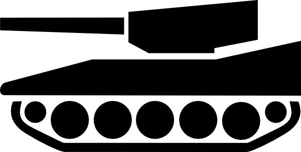 600x304 Tank Silhouette Clip Art Free Vector 4vector