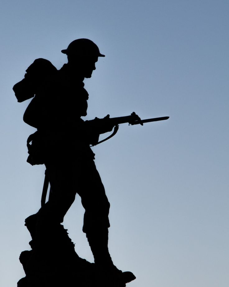 World War 1 Soldier Silhouette