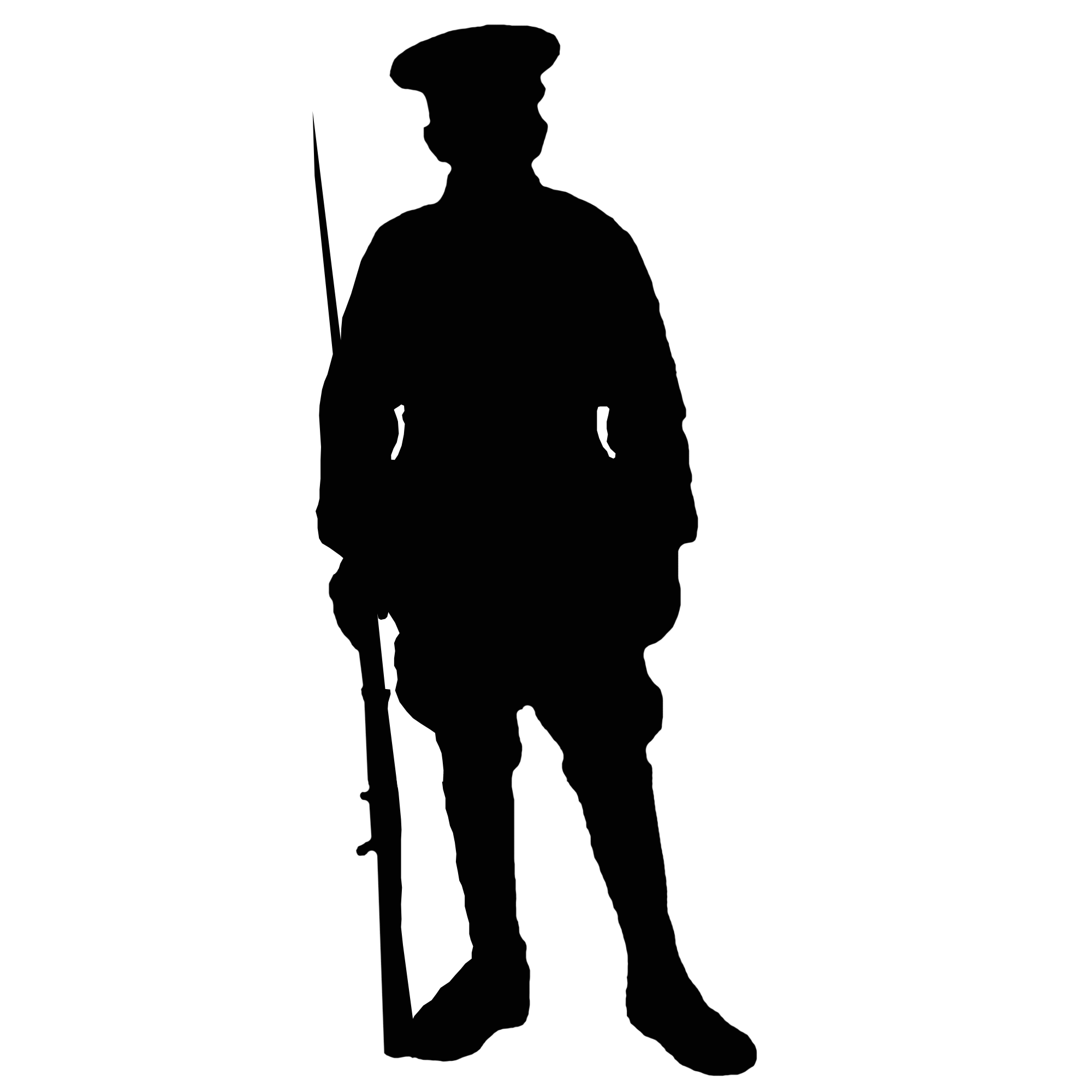 world war 1 soldier silhouette at getdrawings com free for