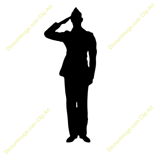 500x500 Military Silhouettes Free Graphics Clipart 12368 Soldier Salute