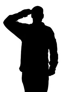 236x306 Woman Soldier Salute Silhouette